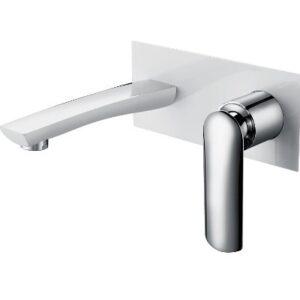 Celine Wall Basin/Bath Mixer White & Chrome