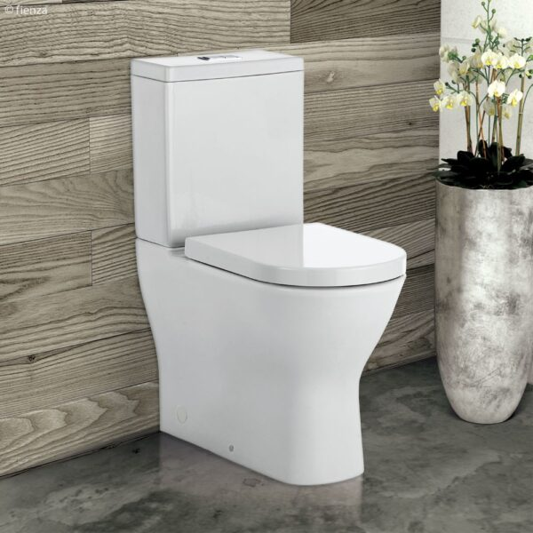Delta Rimless Raised Height Back to Wall Toilet